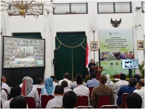 Gubernur Jawa Barat Meresmikan Program JARKOMLUHDES (Jaringan Komunikasi Penyuluhan Desa) Dinas Pertanian Jawa Barat