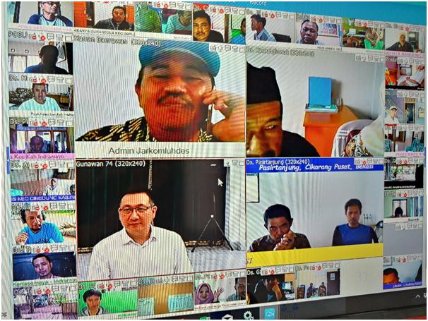 gubernur jawa barat sedang melakukan koordinasi menggunakan Vmeet Pro Indonesia