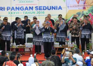 Teleconference of West Java Governor on 36th World Food Day